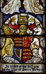 Royal Arms of Queen Victoria (Clayton & Bell, 1897)