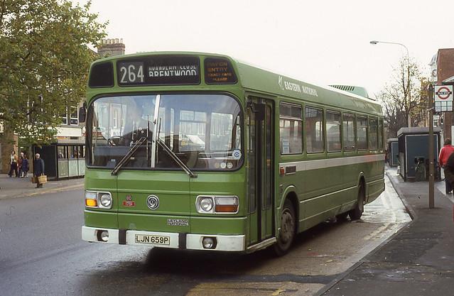 Eastern National LJN659P Brentwood October 1977