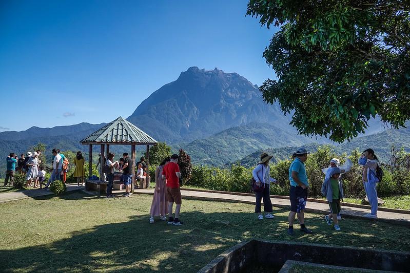 Kinabalu mountain viewing site