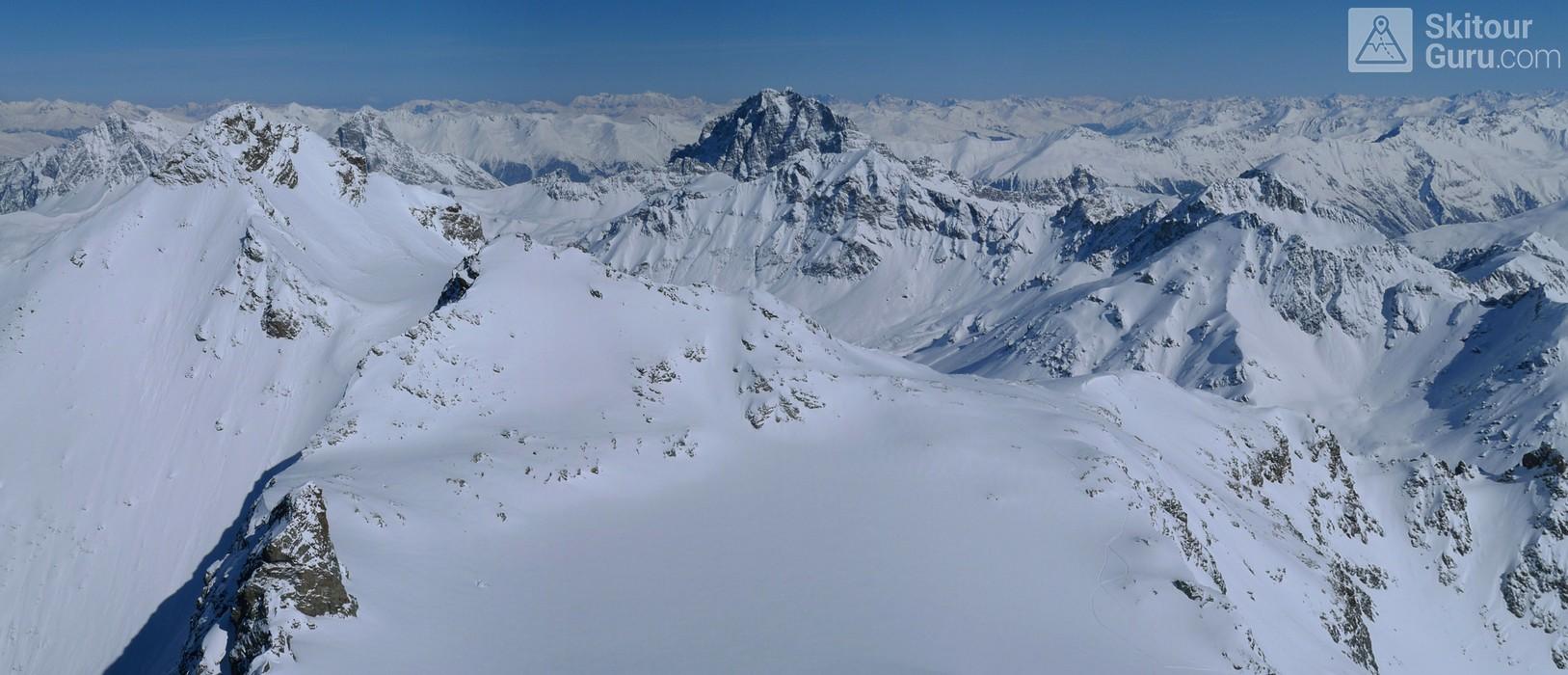 Piz Calderas Albula Alpen Schweiz panorama 30