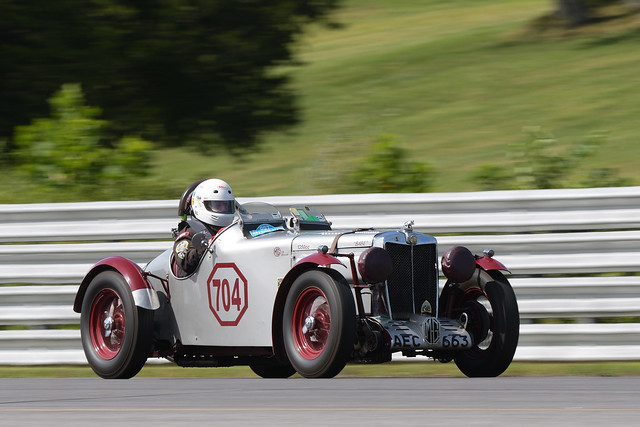 Number 704 1939 MG TB driven by Frank Mount