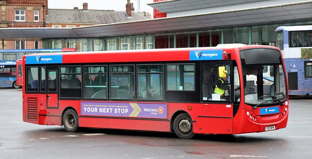 Warringtons Own Buses 230 YX10BFM working Warrington local area services.