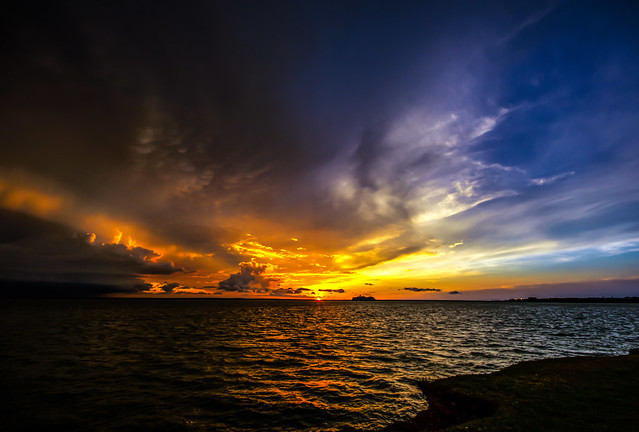 Sunset And Upcoming Storm