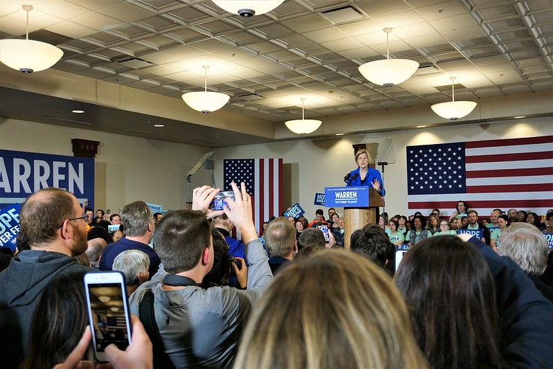 Elizabeth Warren Caucus Night Rally in Des Moines - 2020 Iowa Caucus