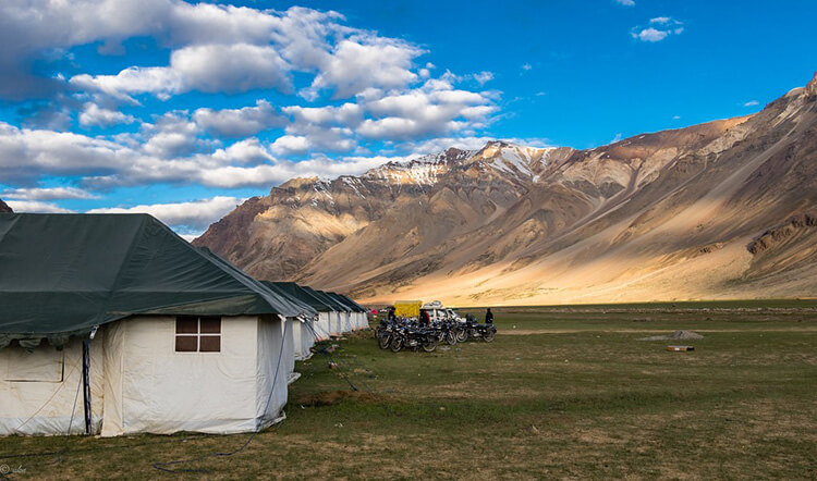 camping at Sarchu