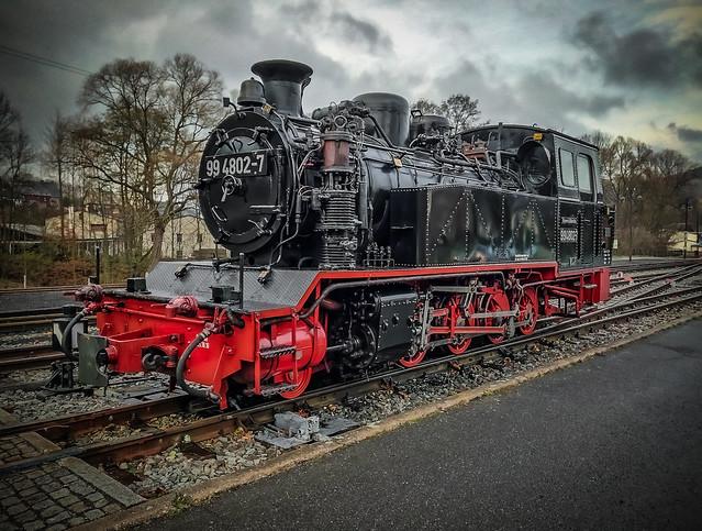 narrow gauge steam locomotive 99 4802-7 front view