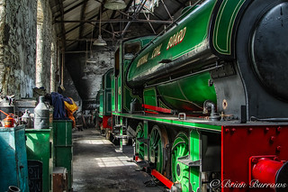 Inside Tanfield Railway Shed