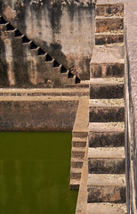 Step well in the Bundi Fort in India