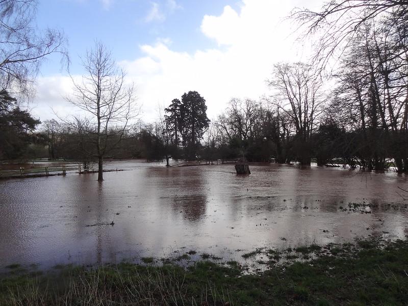 Storm Dennis: River Dore, near Abbey Dore Court