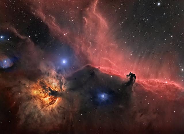 Horsehead & Flame Nebula region