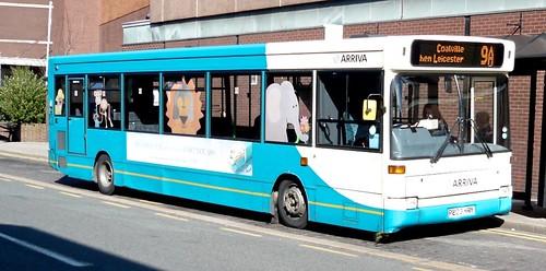P203 HRY 'ARRIVA Midlands' No. 2203. Dennis Dart SLF/ Plaxton Pointer 2  on Dennis Basford's railsroadsrunways.blogspot.co.uk'
