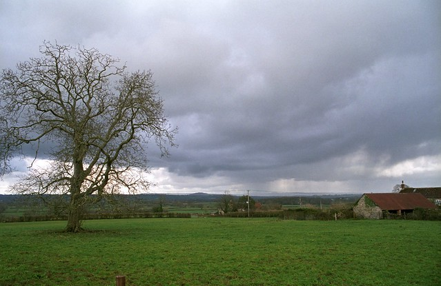 Distant Rain Over The Blackmore Vale, Yenston, February, 2014.