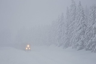 Heavy snow on Donner Pass