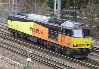 60096 GBRF on 0M51 Doncaster Down Decoy - Tuebrook Sidings at Heaton Norris / Stockport 16/02/2020
