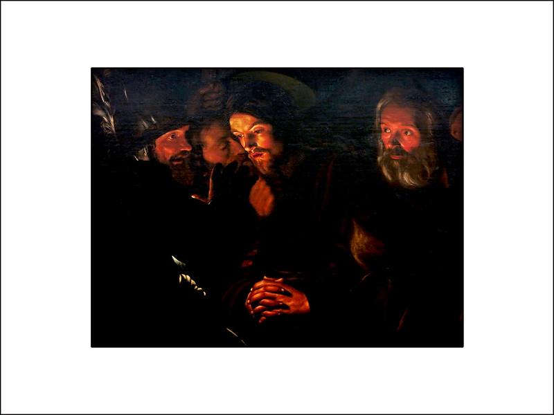 Fragmento del Prendimiento de Cristo Atribuido a GERARD SEGHERS (1591-1651)