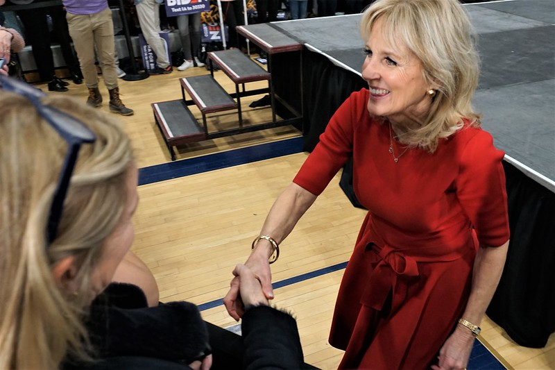 Dr. Jill Biden at Joe Biden Rally in Des Moines, Feb. 2, 2020 - 2020 Iowa Caucus