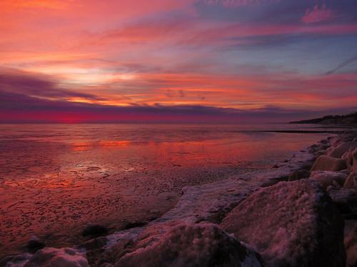 openlands lakeshore lake michigan illinois ice sunrise