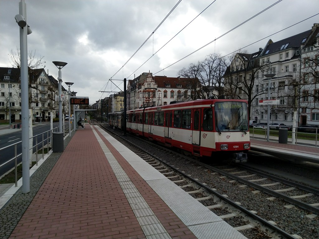 Taking the U Bahn back to Düsseldorf station