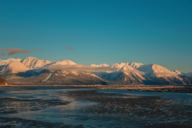 A Glimpse of Turnagain Arm in Winter