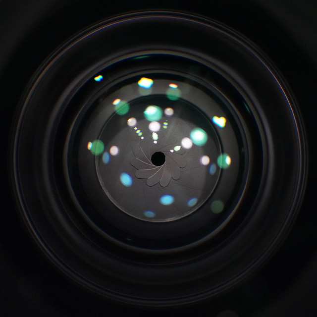 Macro lens on lens