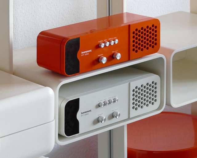 Imperial RT 290 radios. Orange and white ...