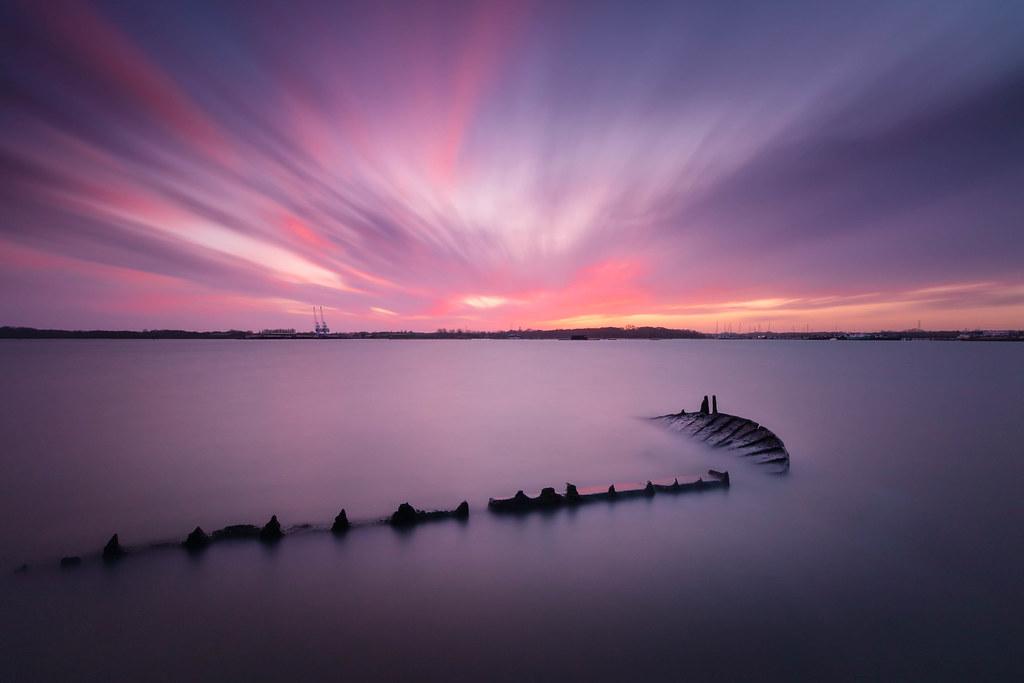 Sunset after Storm Dennis