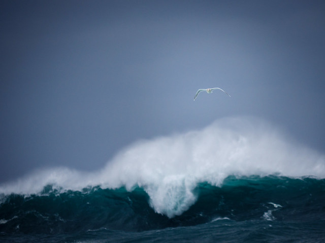 Outrunning (outflying) the wave