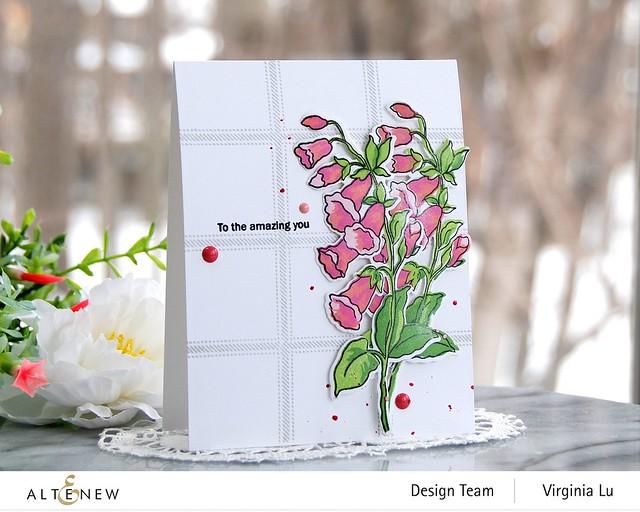 Altenew-Build-A-Flower Canterbury Bells-Virginia#1