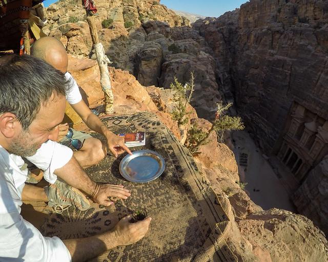 Mirador para ver Petra desde arriba en Jordania
