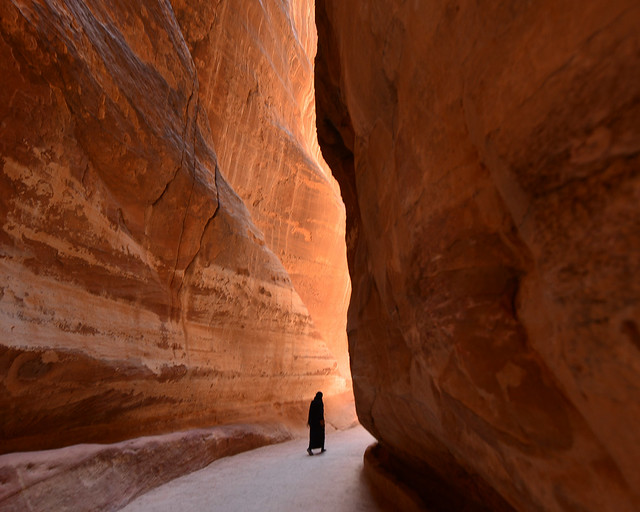 Cañón del Siq, uno de las visitas en Jordania más bonitas