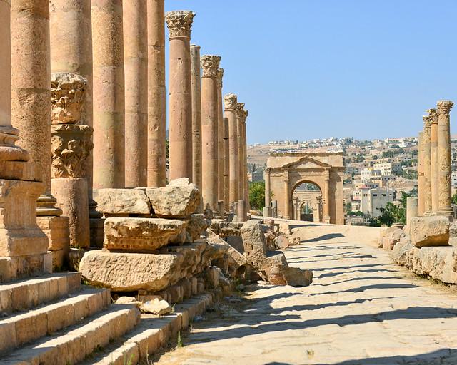 Ciudad romana de Jerash, de los lugares más importantes que visitar en Jordania