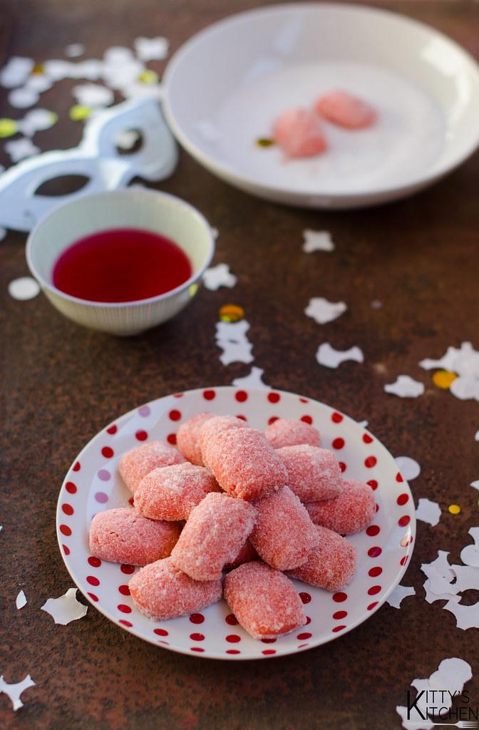 Castagnole rosa al forno