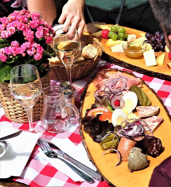 Sausage - Wurstplatte - in Germany - Wine Garden Beim Lindenwirt in Ruedesheim, Drosselgasse, Germany - 2019