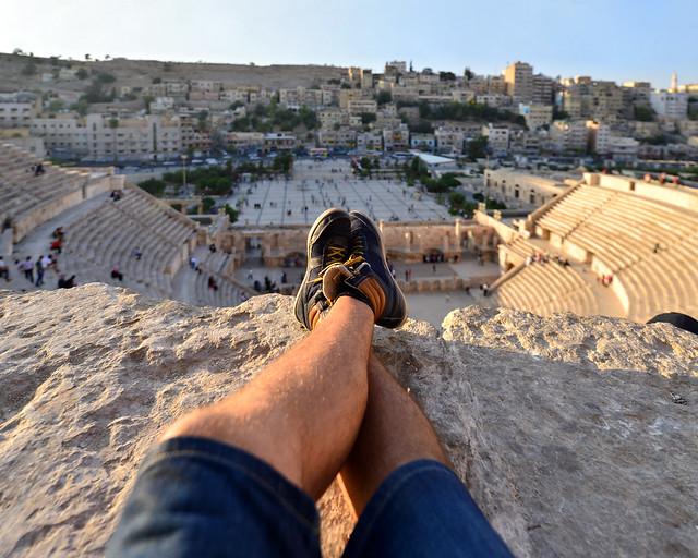 En Amman, viendo el atardecer desde el teatro romano