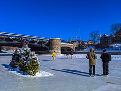 Rideau Canal opened for ice skating during the Winterlude Festival.  Feb, 2020