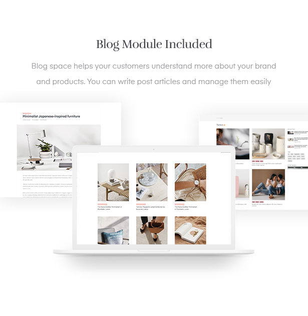 sharing your news via handmade blogging area in the template