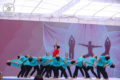 Devotees presented Yoga, Jalagaon