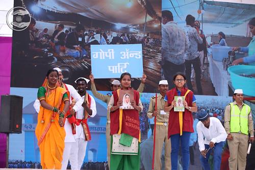 Skit presented by devotees