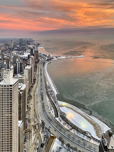 pink jnhphoto chicago cold lakemichigan lake sunrise