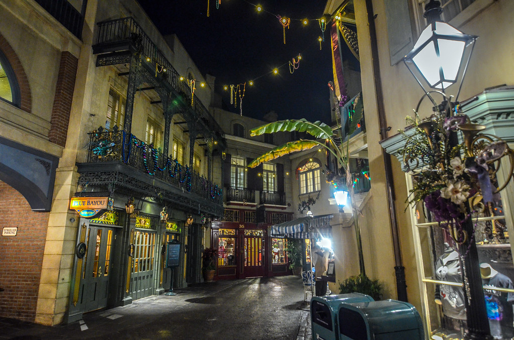 New Orleans Square alley night DL