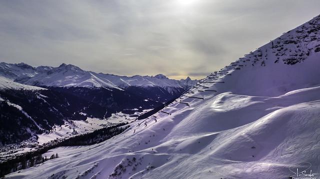 Mountain view from Höhenweg - Davos - Graubünden - Switzerland
