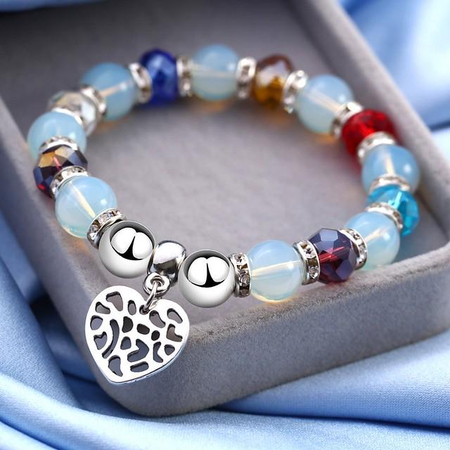 Multiple Colors Lovable Heart Charm Bracelets