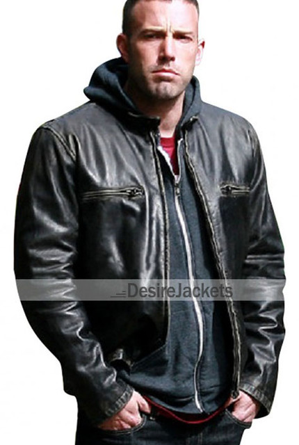 The Town Ben Affleck Black Leather Jacket