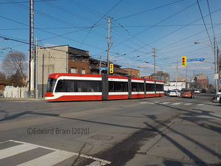 Flexity Outlook #4450 on the 501 Queen Line