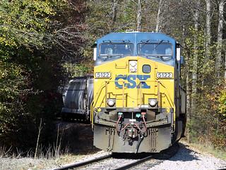 CSX AC44CW 5122 at the Winston-Salem Southbound Railway, Winston-Salem, NC on November 2, 2012