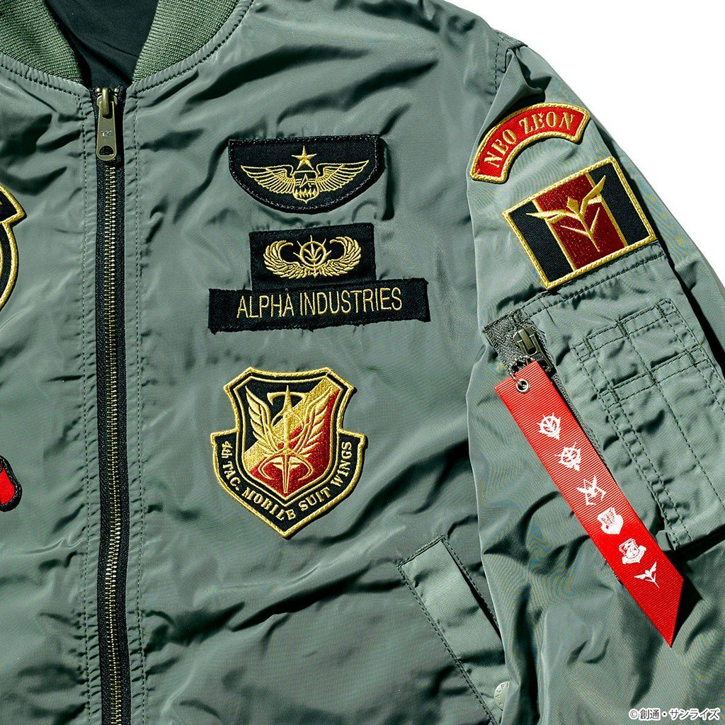 STRICT-G ×ALPHA INDUSTRIE 再度聯名!《機動戰士鋼彈》一年戰爭「地球聯邦軍 / 吉翁軍」LIGHT MA-1 飛行夾克(機動戦士ガンダム一年戦争史 地球連邦軍/ジオン軍 モデル)