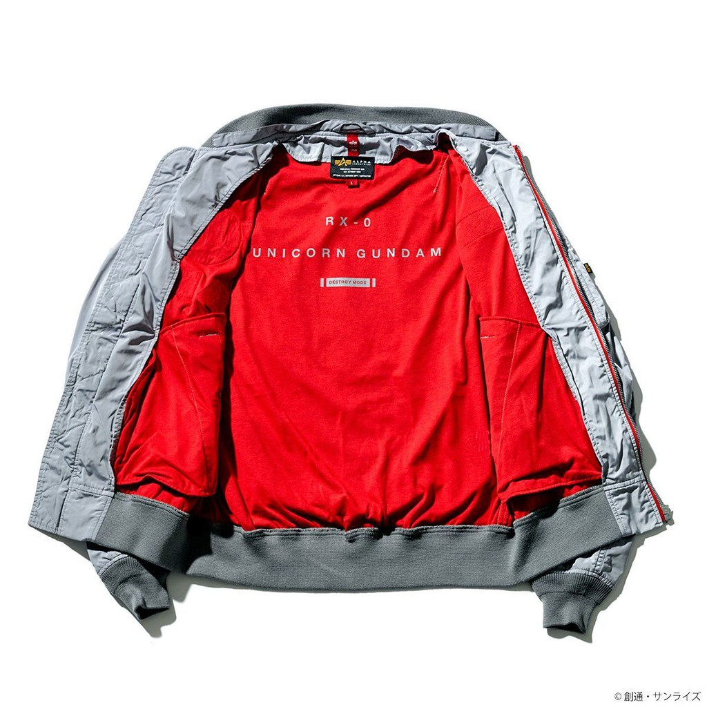 獨角獸鋼彈要出動了!STRICT-G ×ALPHA INDUSTRIE《機動戰士鋼彈UC》巴納吉·林克斯 / 利迪·馬瑟納斯 LIGHT MA-1 NATUS 薄版飛行夾克(機動戦士ガンダムUC バナージ・リンクス&リディ・マーセナス モデル)