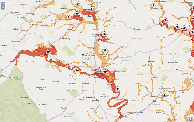 Storm Dennis: Flood warnings for South West Herefordshire at 09.10am on Monday 17 February 2020