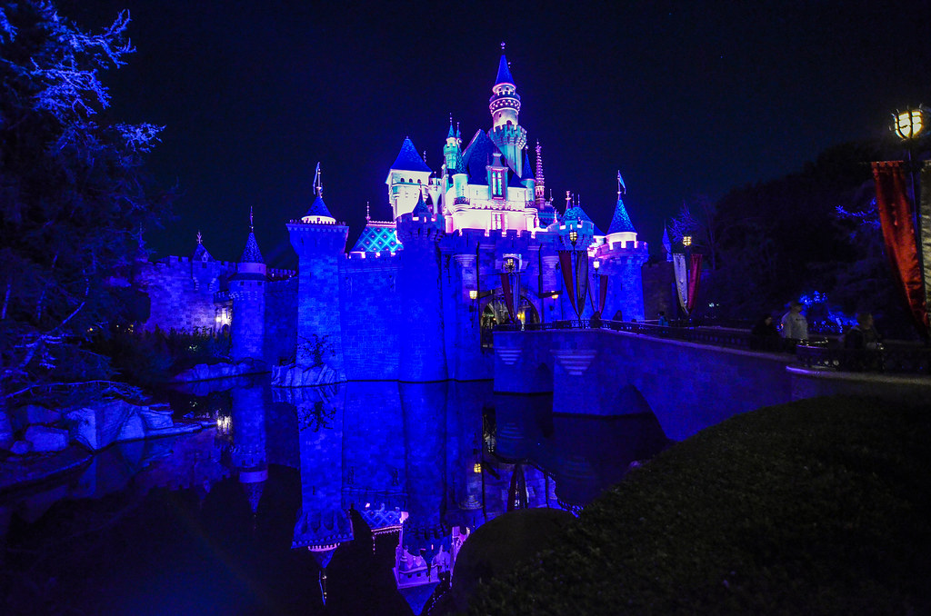 Castle night reflection DL