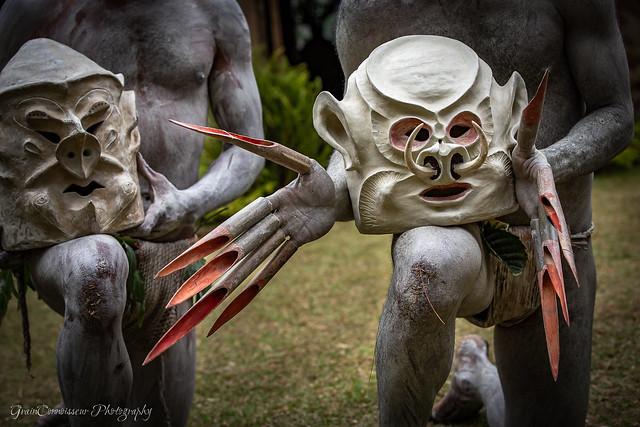 Asaro Mud mask, Papua New Guinea, Sep-2019